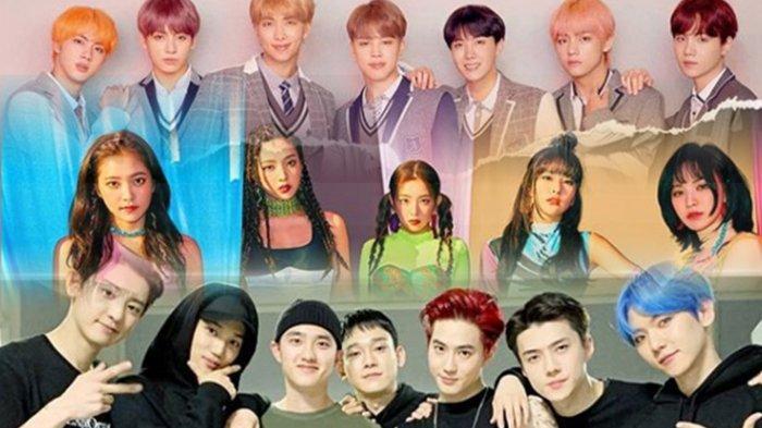 BTS, Red Velvet dan EXO Teratas di Deretan Grup Idol K-Pop Terpopuler Januari 2020, Ranking Idolamu?
