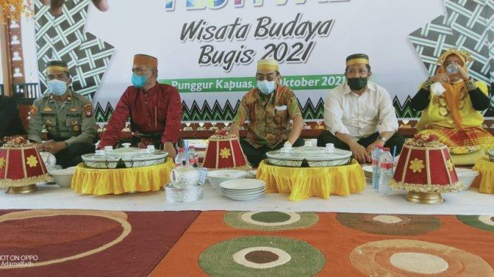 Hadiri Festival Budaya Bugis di Desa Punggur Kapuas, Ini Yang Disampaikan Kapolsek Kakap Suyitno
