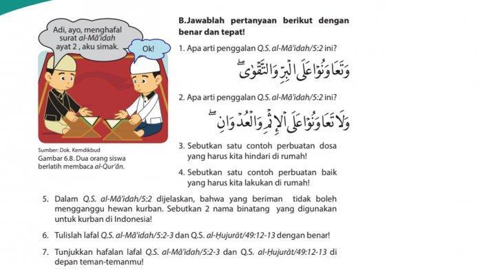 Kunci Jawaban Pendidikan Agama Islam Dan Budi Pekerti Kelas 6 Halaman 62 63 Dan 64 Pelajaran 6 Tribun Pontianak