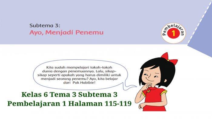Kunci Jawaban Tema 3 Kelas 6 Halaman 143 144 145 146 147 Buku Tematik Sd Subtema 3 Menjadi Penemu Halaman All Tribun Pontianak