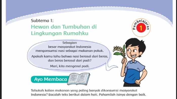 Buku tematik tema 3 Kelas 4 Subtema 1 Pembelajaran 1