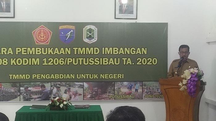 Bupati Nasir Buka TMMD Imbangan Kodim 1206 Putussibau
