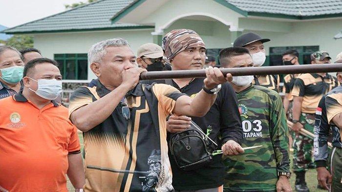 Buka Lomba Sumpit Dandim Cup, Bupati Martin: Sumpit Senjata Tradisional Masyarakat Kalimantan