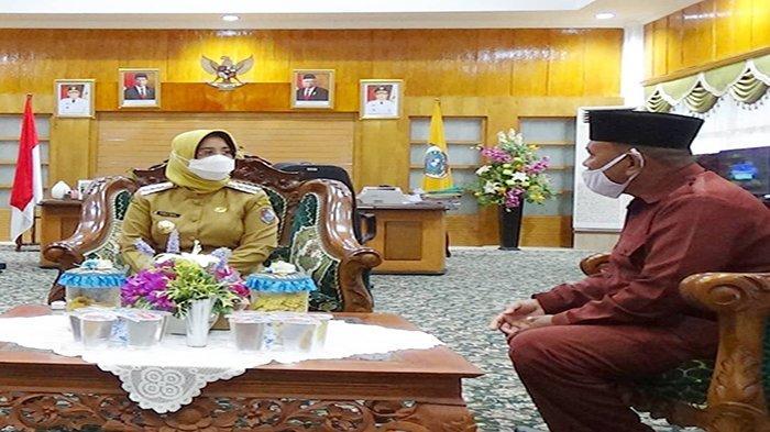 Bupati Erlina Terima Kunjungan Perwakilan Pontren Al-Muhlisin Antibar