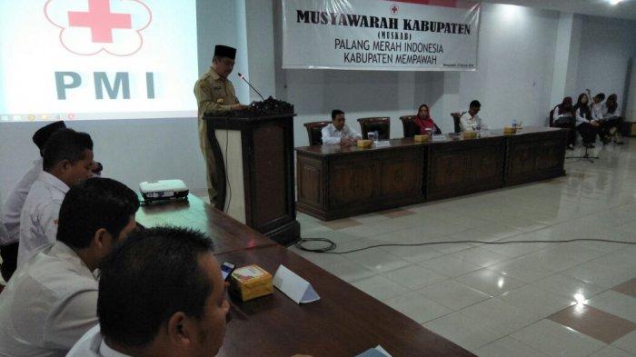 Ria Norsan Buma Muskab PMI Kabupaten Mempawah, Ini yang Diharapkannya