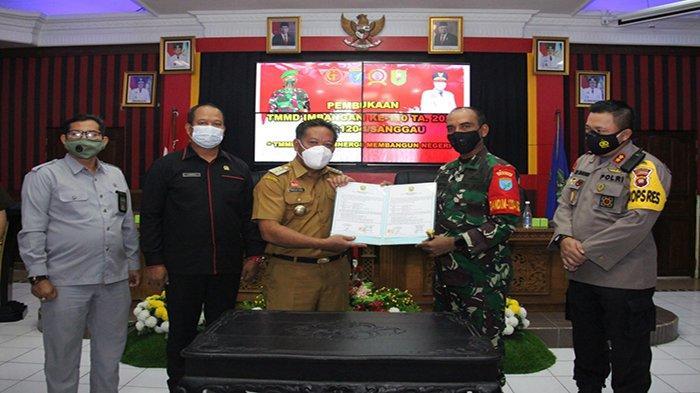 Buka TMMD Imbangan ke-110, Bupati Sanggau Minta Partisipasi dan Dukungan Dari Masyarakat