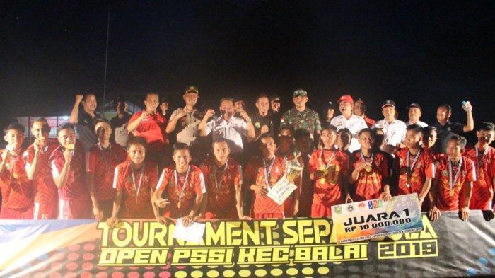 Kesebelasan Mali Sport Menjuarai Turnamen Sepak Bola PSSI Open Cup Balai Tahun 2019