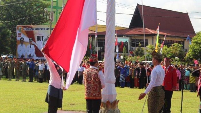 Bupati Sanggau Jadi Pembina Upacara Peringatan HUT Pemprov Kalbar ke-63