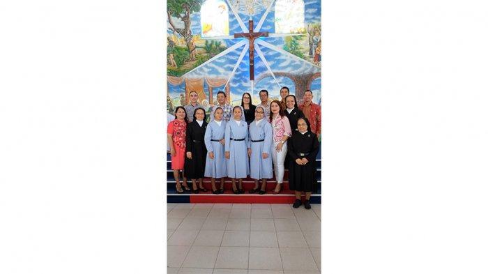 Bupati Rupinus Hadiri Misa Syukur Kaul Pertama Tiga Orang Suster Konggregasi Pasionis