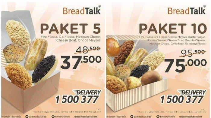 BURUAN! Promo Paket BreadTalk, Cuma Rp 7.500/Roti Buat Kamu yang di Rumah Aja, Sampai 23 Maret 2020