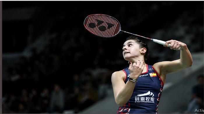 LIVE TVRI Sekarang Streaming Semifinal Denmark Open 2020 - Carolina Marin Vs Yyvone Li