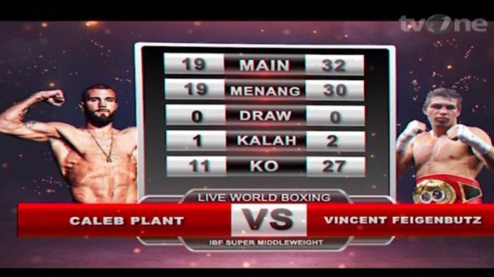 Live TVOne Tinju Dunia Caleb Plant vs Vincent Feigenbutz, World Boxing TVOne Sedang Berlangsung