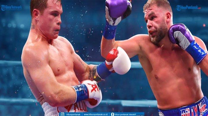 Hasil Pertarungan Tinju Dunia Canelo Alvarez Vs Billy Joe Saunders TV One, Menuju Pemegang 4 Sabuk