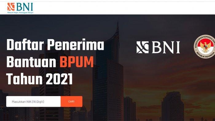 Banpres bpum.id Login Cek Daftar Penerima Bantuan UMKM Mekaar BNI 1,2 Juta 2021, Cek e form BRI UMKM