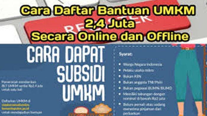 Cara Daftar Bantuan UMKM Secara Online Login www.depkop.go.id Daftar Bantuan UMKM 2021 Lewat HP