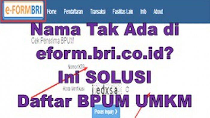Cara Daftar eform.bri.co.id/bpum Login www.depkop.go.id Daftar Efrom BRI Dapatkan Rp 2,4 Juta