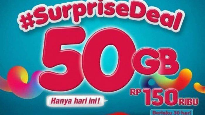 Cara Daftar SurpriseDeal 50GB, Promo Telkomsel Paket Data 50 GB Mulai Rp 130 Ribu Hanya Hari Ini