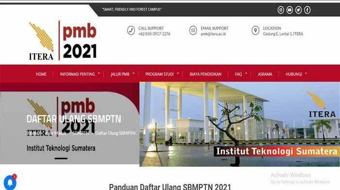 Dim.itera.ac.id 2021 Link Berikut Cara Pengisian Data Induk Mahasiswa Daftar Ulang SBMPTN ITERA