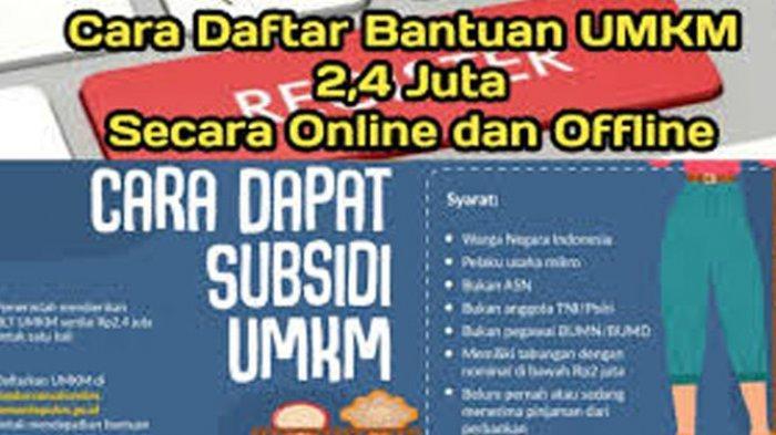 Cara Daftar UMKM Secara Online Login www.depkop.go.id Daftar Online UMKM 2021 Klaim Rp 2,4 Juta