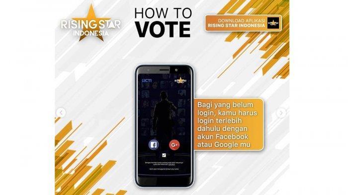 Cara Vote Rising Star Indonesia: Mulai Voting saat Rising Star Berlangsung Live RCTI & Youtube