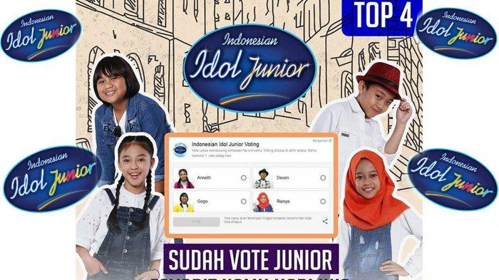 Cara Voting Indonesian Idol Junior: Yuk Vote! 4 Junior di Road to Grand Final: Siapa Harus Pulang?