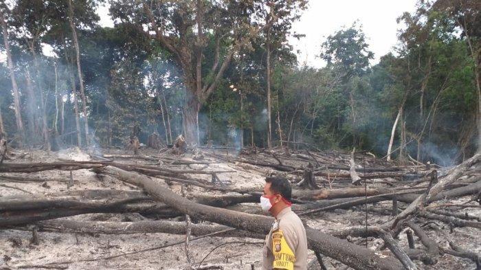 Anggota Polsek Kapuas Polres Sanggau Cek Dua Titik Hotspot