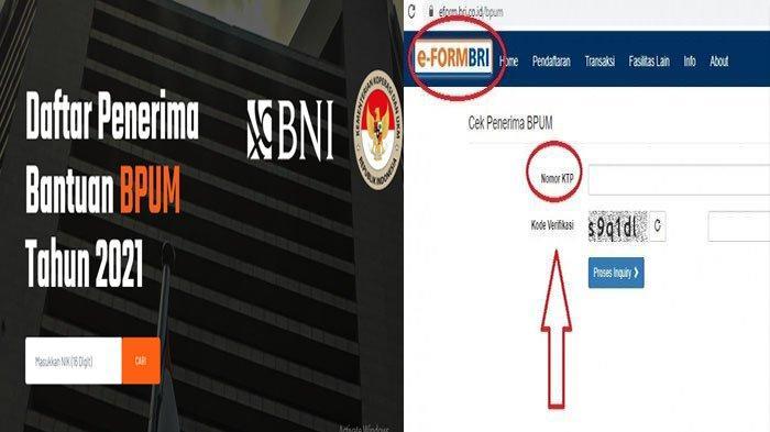 Banpres bpum.id BNI Cek Online Daftar Penerima BLT UMKM Mekaar 1,2 Juta 2021 & Eform BRI Cek NIK KTP