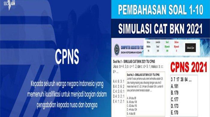CEK Cara Melihat Jadwal SKD CPNS 2021, Ini Bank Soal CPNS & Contoh Soal TIU CPNS 2021