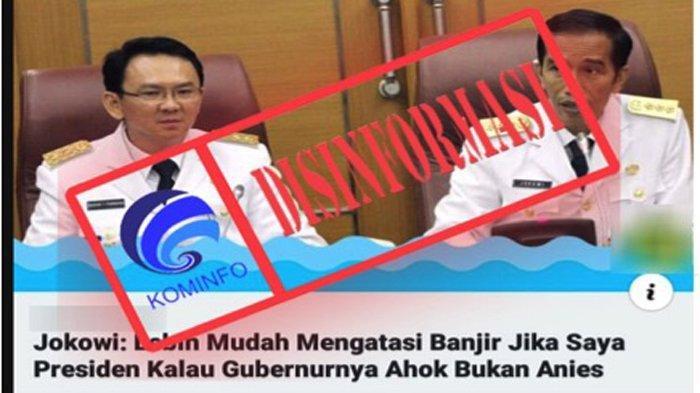 CEK FAKTA - Jokowi: Lebih Mudah Atasi Banjir Jika Saya Presiden Kalau Gubernurnya Ahok Bukan Anies