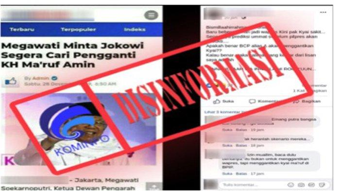 CEK FAKTA - Megawati Minta Jokowi Segera Cari Pengganti KH Ma'ruf Amin