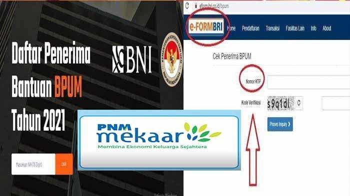 Banpres BPUM. id Penerima Bantuan UMKM Mekaar BNI Klik Banpresbpum.id dan E Form BRI Tahap 2