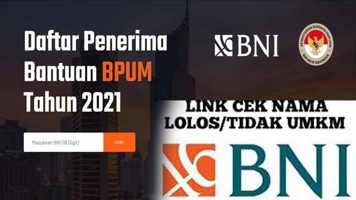 Https //banpresbpum.id Cara Cek Online Nama Penerima Banpres UMKM Mekaar BNI 2021 Pakai NIK KTP