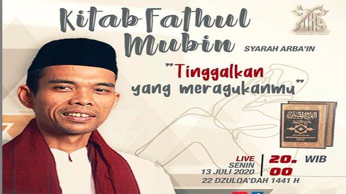 CERAMAH UAS Terbaru, Simak Live Streaming Kajian Kitab Fathul Mubin Ustaz Abdul Somad Berikut