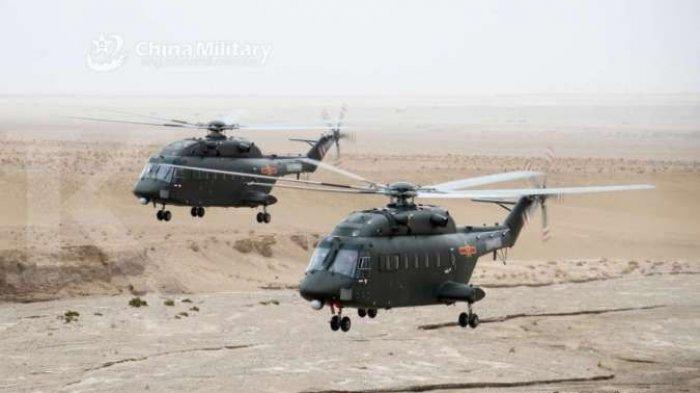 TIONGKOK Kerahkan Helikopter Tempur Z-20 ke Uighur Xinjiang, Persiapan Jika China Vs India Perang?
