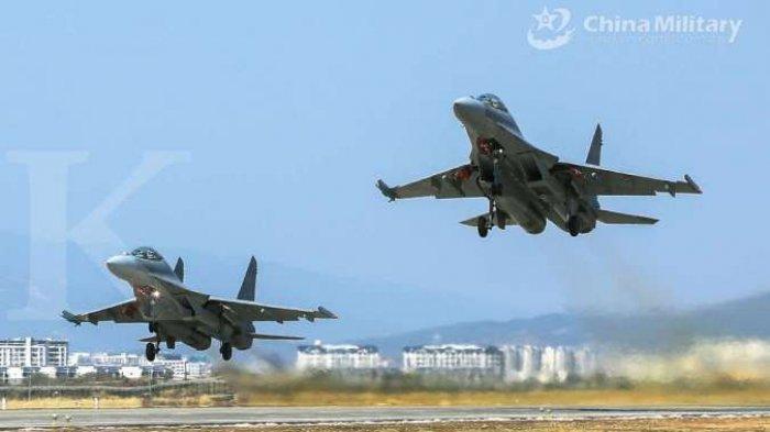 CHINA Kian Agresif, Tiongkok Kirim 25 Pesawat Tempur dan Bomber Nuklir Jebol Pertahanan Udara Taiwan