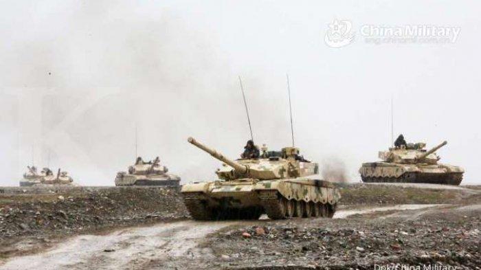 CHINA Vs India Update, Militer Tiongkok Kerahkan Tank Tempur Utama MBT Type 99A ke Garis Perbatasan