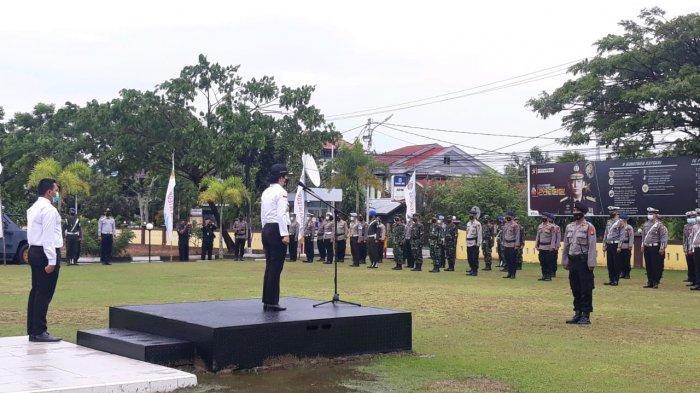 Tjhai Chui Mie Pimpin Apel Gelar Pasukan Operasi Ketupat Kapuas 2021 di Mapolres Singkawang