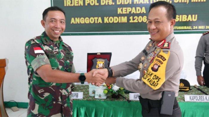 Berkunjung ke Makodim 1206 Putussibau, Ini Pesan Penting Bagi Anggota TNI-Polri