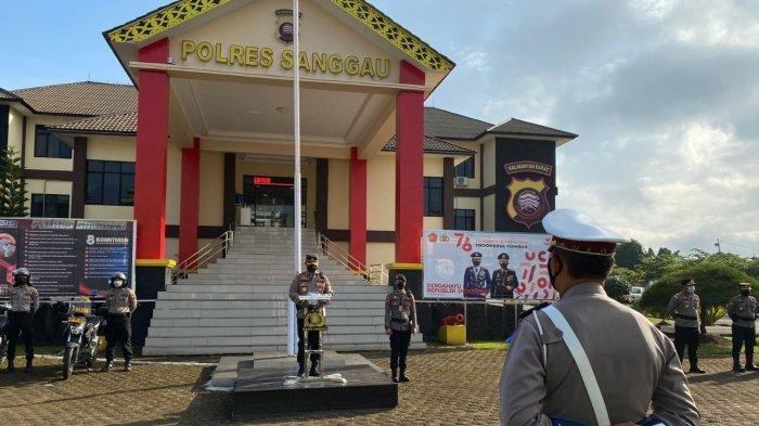 Pimpin Gelar Pasukan Operasi Patuh Kapuas 2021, Berikut Arahan Kapolres Sanggau