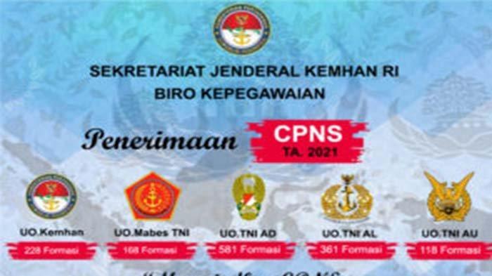 CPNS Kemhan 2021, Loginwww.kemhan.go.id Informasi dan Cara Pendaftaran CPNS Kemhan 2021