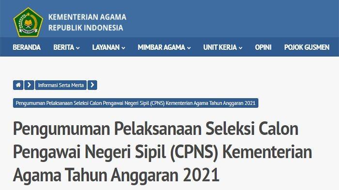 cpns.kemenag.go.id 2021 Login, Cara Daftar CPNS Kemenag 2021 & Formasi CPNS Kemenag 2021 pdf !