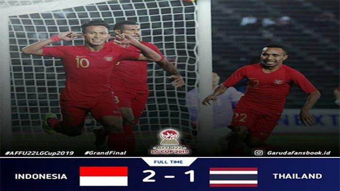 Cuplikan Gol Indonesia vs Thailand, Timnas Indonesia Juara Piala AFF U-22 2019