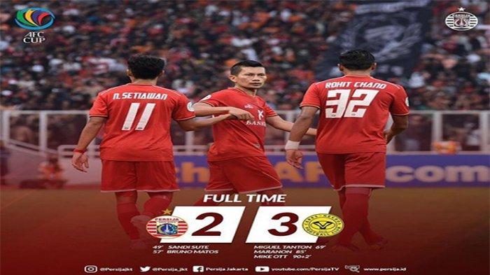 CUPLIKAN GOL Persija Vs Ceres (2-3), Macan Kemayoran Terdampar di Klasemen Grup G Piala AFC