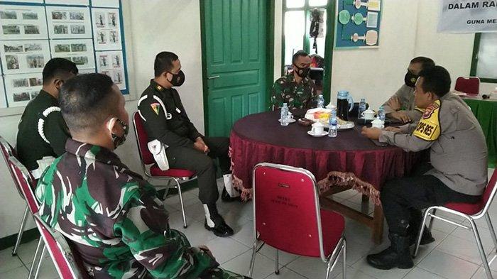 Perkuat Sinergisitas TNI dan Polri, Kapolres Melawi Sambangi Koramil Nanga Pinoh