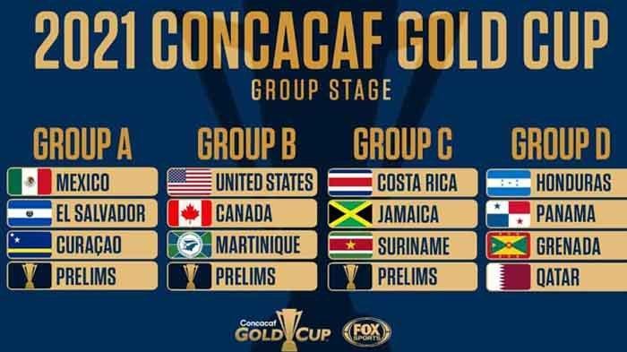 Daftar Negara Peserta Piala Emas CONCACAF 2021 Lengkap Klasemen Grup dan Top Skor Sementara