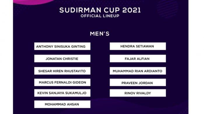Daftar Pemain Indonesia di Piala Sudirman 2021 Resmi dari PBSI