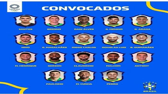 Daftar Skuad Brazil di Olimpiade Tokyo 2021, Ada Dani Alves hingga Malcom