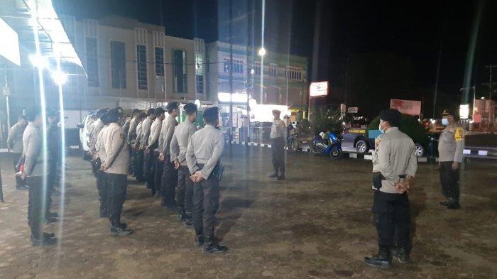 Kembali ke Satuan, Polres Sanggau Gelar Apel Kembali BKO Pleton Dalmas