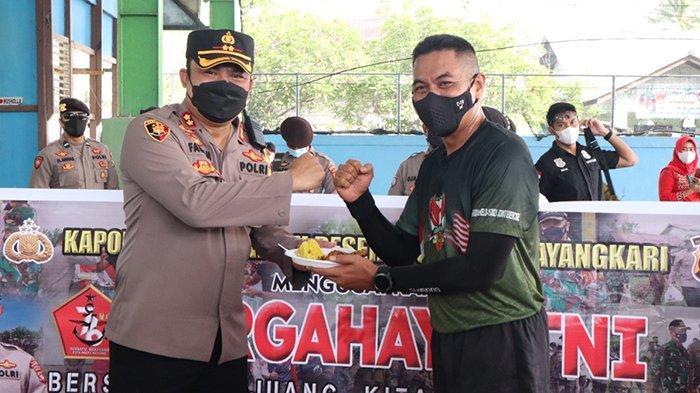 Berikan Ucapan HUT TNI ke-76, Kapolres Mempawah Datangi Lima Markas TNI