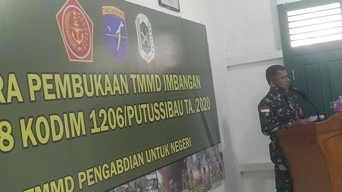 Kodim 1206 Putussibau Laksanakan TMMD Imbangan di Desa Sungai Abau